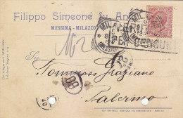 E-801- Testatina Pubblicitaria Filippo Simeone - Messina - Milazzo - Pubblicitari