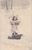 CPA - Fantaisie - Enfant - Bonne Année - Neige - Collection Idéale - 44 - Scènes & Paysages