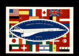 AVIONS - Aéroport Roissy - Concorde - Carte Signée Par L'illustrateur - 1946-....: Moderne