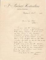 1908 Facture Lettre Toulouse Barat Horticulteur Rue Matabiau - France