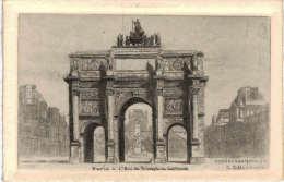 Paris - Arc De Triomphe Du Carrousel Eau Forte G Schlumberger - Arc De Triomphe