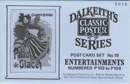 6 Dalkeith Classic Poster Postcards ENTERTAINMENTS Dance Cinema Wrestling Theatre - Advertising