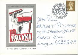 1974. XXX ANNIVERSARY OF WARSAW UPRISING. LONDON - 1939-44: World War Two