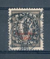 VARIÉTÉ BAVIÈRE  1920 N° 210 SURCHARGE ROUGE OBLITÉRÉ   DOS TRACE CHARNIÈRES - Bayern (Baviera)