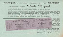 Uitnodiging Film Kleurfilm 2x Vrijkaart Destelbergen Cinema Lux Tickets Voet Deinze - Eintrittskarten