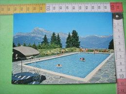 12 ) Combloux : Hotel Restaurant :aux Ducs De Savoie :piscine ,au Fond Mont Blanc - Combloux