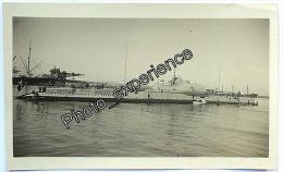 Photo Sous-Marin Militaire Military Submarine 1932 CASABLANCA Maroc Afrique - Boten