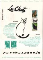 1999 - DOCUMENT OFFICIEL - DOUBLE FACIALE FRANC ET EURO - LES CHATS - Non Classés