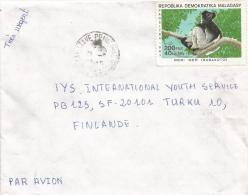 Madagascar 1986 Tamatave Indri Lemur Monkey Ape 200 FMG Cover - Apen