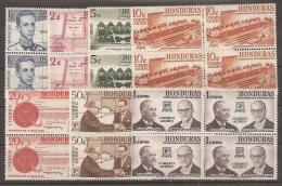 HONDURAS 1961 - Yvert #A286/92 - Mint No Gum (*) Bloque De 4 - Honduras