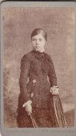 Kabinettfoto, Anna Pregizer, Foto: M. A. Héraud, Aix, Um 1875 - Alte (vor 1900)