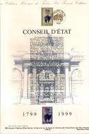 1999 - DOCUMENT OFFICIEL - DOUBLE FACIALE FRANC ET EURO - CONSEIL D'ETAT - Documenten Van De Post