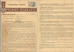 Kreissparkasse Northeim - Prämien Sparkarte                 1963 - Banque & Assurance