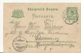 == BAYREN  GS 1902 SPIEGELAU NACH Chemnitz - Bavaria