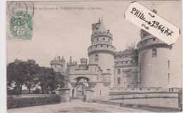 60 PIERREFONDS Cpa / Château - L´Entrée. - Pierrefonds
