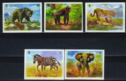UMM AL QIWAIN - Marken (geschnitten), Versch. Tiere (tie314-1) - Unclassified