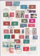EUROPA 1963 - ANNEE COMPLETE OBLITEREE Avec CACHET FDC Sur FRAGMENT - FORTE COTE CATALOGUE - 1963