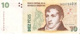 BILLETE DE ARGENTINA DE 10 PESOS (BANKNOTE) - Argentina