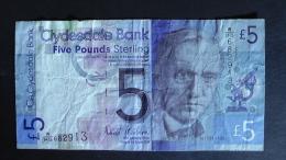 Scotland - 5 Pound - 2009 - P 229 - VF - Look Scan - Ecosse