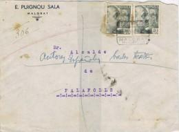 4574. Carta Certificada MALGRAT (barcelona) 1942 - 1931-Aujourd'hui: II. République - ....Juan Carlos I