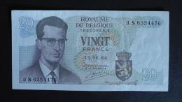 Belgium - 20 Francs - 1964 - P 138 - XF - Look Scan - [ 6] Schatzamt
