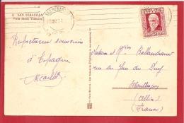 N°Y&T 503 SAN SEBASTIEN   Vers     FRANCE Le 12 MAI1903 (2 SCANS) - 1889-1931 Royaume: Alphonse XIII