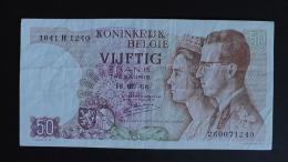 Belgium - 50 Francs - 1966 - P 139 - VF - Look Scan - [ 6] Treasury