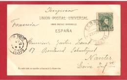 N°Y&T 213 IMPRESO FERROL  Vers     FRANCE Le 23 FEVRIER1903 (2 SCANS) - 1889-1931 Royaume: Alphonse XIII