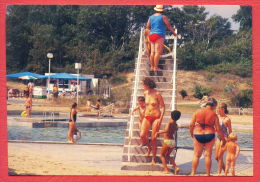 133593 / A Beautiful Naked WOMAN LITTLE BOY GIRL  Swimming Pool SUNNY BEACH. A CHILDREN PLAYGOUND Bulgaria Bulgarie - Donne
