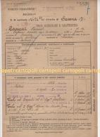^ ALPINI QUILIANO SAVONA GENOVA DOCUMENTO FOGLIO MATRICOLARE 26 - Documenti Storici