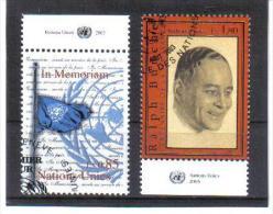 ESS560  UNO GENF 2003  MICHL 472 + 481 Mit TABS Used / Gestempelt - Genf - Büro Der Vereinten Nationen