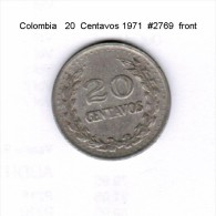 COLOMBIA    20  CENTAVOS  1971  (KM # 246.1) - Colombia