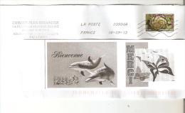 """ENVELOPPE AVEC TIMBRE LETTRE VERTE  """"ARTICHAUT GROS CAMUS DE BRETAGNE- ANNEE 2012  - OBLITERE BON ETAT - Frankrijk"""