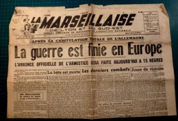 LA Marseillaise - 8 Mai 1945 - La Guerre Est Finie En Europe  - Original - 1939-45