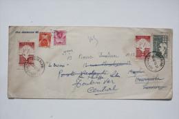 Cover Enveloppe 1958 Istanbul --> Tunis --> Toulon, Affr. 125  Et Taxée 15 F Pour Poste Restante - Cartas