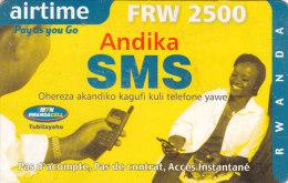Rwanda, FRW 2500, Airtime, Pay As You Go, Andika SMS, 2 Scans.  Please Read. - Rwanda