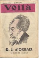 VOILA ..-- N° 29 . 17 Juillet 1942 . D.J. D ' ORBAIX . - Books, Magazines, Comics