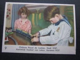 Noël 1937 Prins Albert Château Royal De Laeken Chromo -image:Chocolat Belge Côte-d'Or:série Enfants Royaux De Belgique - Côte D'Or