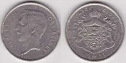 BELGIQUE : 20 FRANCS / 4 BELGAS 1931 Légende Française En Nickel (position B) - TTB - 1909-1934: Albert I