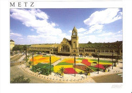 METZ 57 - La Gare - Tapis Floral - EA372 - R-2. - Metz