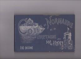 Guide-Album Du Touriste, 20 Jours Sur Les Côtes De Normandie Et De Bretagne Et L'Île De Jersey , 110 P. Vers 1890 - Livres, BD, Revues