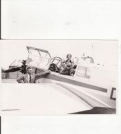 Carte Postale Photo AEROPORT MANNHEIM (Allemagne) - AVION-AVIATION-TRANSPORT- Photo Fritz Stricker, Aéroport Mannheim- - 1946-....: Era Moderna