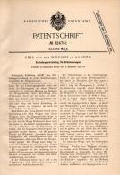 Original Patentschrift - Emil Von Den Driesch In Aachen , 1900 , Apparat Für Brückenwaagen , Brücke , Waage , Waggon !!! - Historische Dokumente