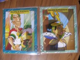 ASTERIX - PORTFOLIOS 1 & 2 - GALERIE DE PORTRAITS - 2 X 8 PERSONNAGES - Astérix