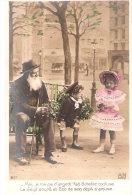 Vieux Métiers-Marchand De Gui-Le Vieil Homme Et Les Enfants-Banc Public De Paris-costume Marin-robe - Mercanti