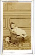 PORTRAIT BEBE  PHOTO ADOLPHUS PEPPER PARC DE NEUILLY  FIN XIX ° - Personas Anónimos