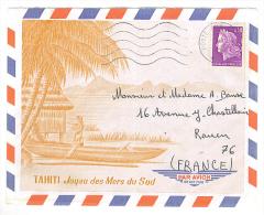 "VEND LETTRE DE TAHITI AVEC OBLITERATION "" POSTE AUX ARMEES "" !!!! - Tahiti"
