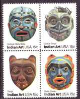 U.S. 1834-37  **   AMERICAN INDIAN ART (masks) - United States