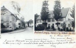 Giromagny - Faubourg De France - Carte Detourneé En Carte De Visite Par Mr Jules LAPP Négociant Vins - Giromagny
