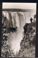RB 946 - Rhodesia Zambia Zimbabwe - Real Photo Postcard - Victoria Falls - Main Falls Near The Devil's Cataract - Zimbabwe